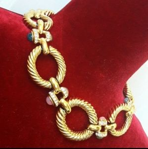 Authentic Vintage Givenchy Gold Choker